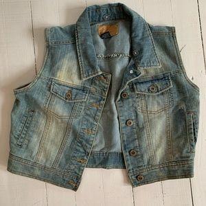 New Jean vest Small